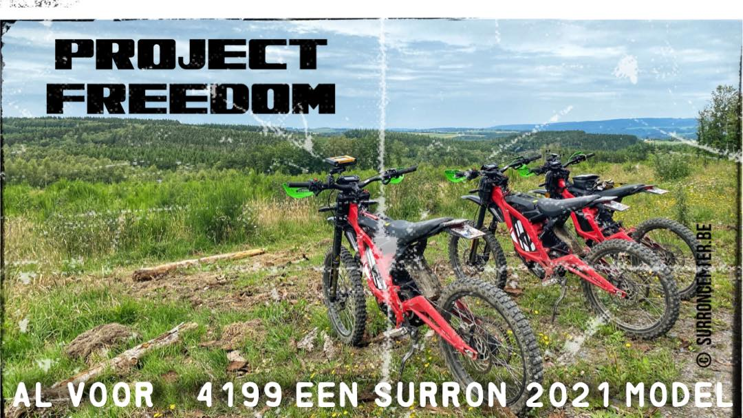 Surroncenter.be de specialist in Sur-Ron Project Freedom